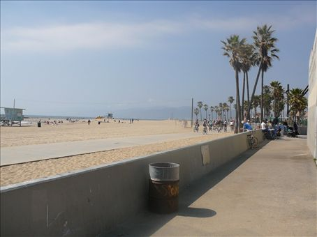 The view from Venice beach