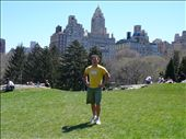 Junior in his Aussie outfit, Central Park with part of the NYC skyline in the background: by nat_and_chris, Views[208]