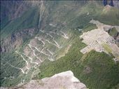 view from Waynapicchu of the road to MP: by nat_and_chris, Views[269]