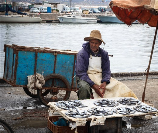 Fisherman Ali goes to the ocean with other men from the village to catch and sell fish in roder to feed his family. He is doing it since 15 years almost every day