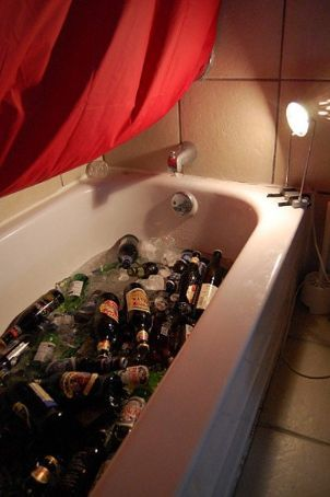 Beer in the tub