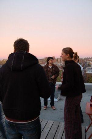 On Kris' rooftop