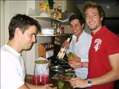 my roommates (from left to right) Cyril aka. Pepito, Nicolas and Arnaud doing what we love most: cooking and preparing delicous caipirinhas!: by navidalizadeh, Views[228]