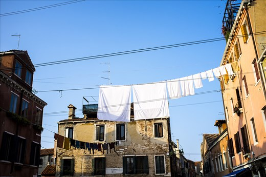 Washing clothes in Venice, necessity for some, attraction for others.