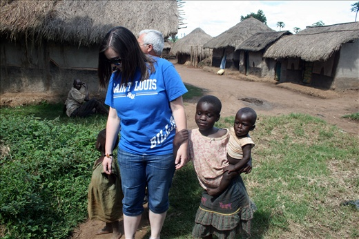 These kids held my hands all through our walk in Kagoma Village!