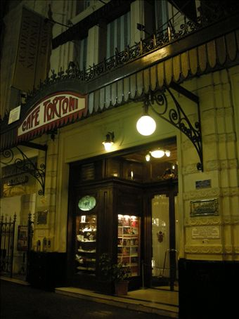 The tango show venue... 100 year old cafe (I don´t recommend the food)