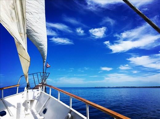 Sailing out to Tivua Island