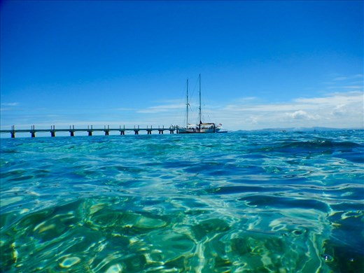 Crystal clear waters of Tivua Island