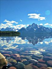 Mt. Moran, Grand Teton National Park. A beautiful, blue reflection. : by nfraehlich, Views[90]