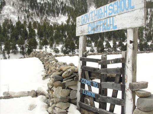 A High school in tough terrain  Keeping up with the state's high literacy rate.