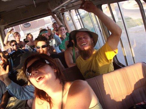 Everyone on the bus to Paracas!