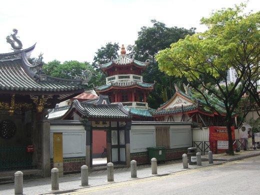 Outside temple