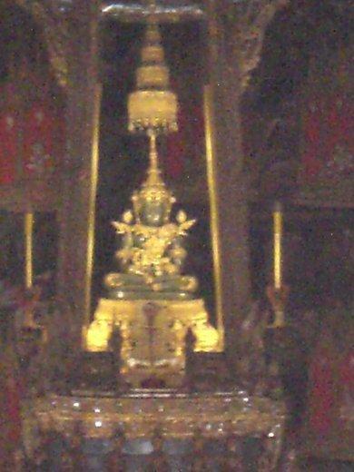 The Emerald buddha - it's really made of jade