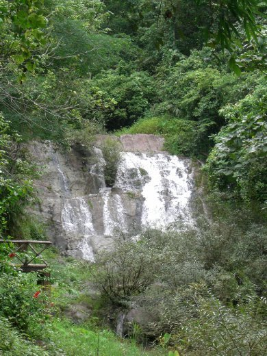 The waterfall that we cycled to