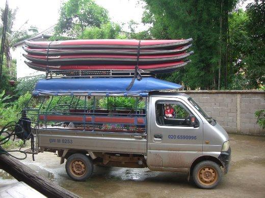 Our kayaks!