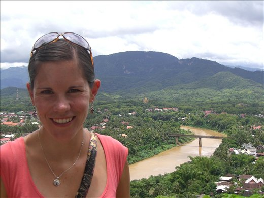 Me up Phu Si (aka big hill in the middle of town)