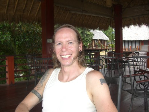 Chris chilling out in Vang Vieng