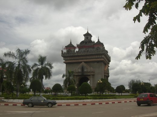 The Arc De Triomphe! No, not really, the Vientiane version
