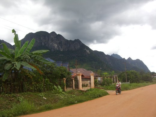The town of Lak Sao, where we stayed onroute to Vietnam