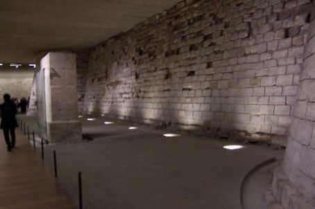 the remaints of the medieval louvre