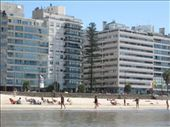 The view of the surrounding buildings from the water.  The coast of Montevideo is not ocean, this is the Rio de la Plata (the River Plate).  It is an estuary of the Paraná and Uruguay Rivers, and forms part of the border between Argentina and Uruguay.: by nigelb, Views[184]