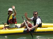 Hi guys.  Here we are on a kayaking trip as part of the 6 in 1 tour.: by nigelb, Views[172]