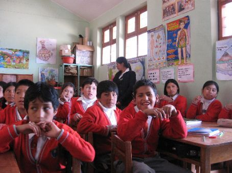 A school that our World Vision sponsorship supported.  Some of the kids are supported by the World Vision project.