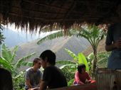 One of the resting spots on the first day of our long walk to Machu Pichu.  We were all exhausted and hot.  The drinks and food were very welcomed!: by nigelb, Views[263]