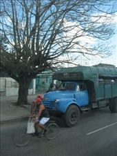 Another common means of transport.  Trucks picking up people as they drove past.: by nigelb, Views[211]