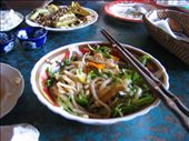 Veggie version of Hoi An's specialty 'Cao Lau.'  A little broth, fat udon like noodles, fresh veggies and herbs and some fake meat to boot.  It was really good.  But I guess that's probably obvious if its on here!: by nihau, Views[205]