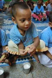 For the kindergarden ones, some milk and cookies before starting the day: by nimai_pandit, Views[86]