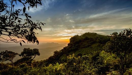 Sun set at Western Ghats