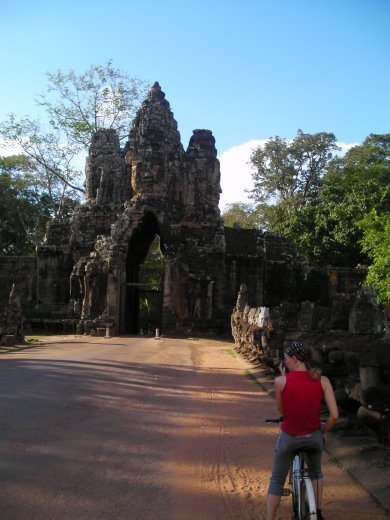 Ema leads me out to Angkor Thom