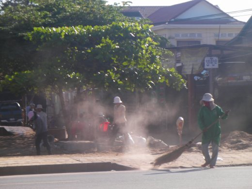 Cambodia is very vry dusty