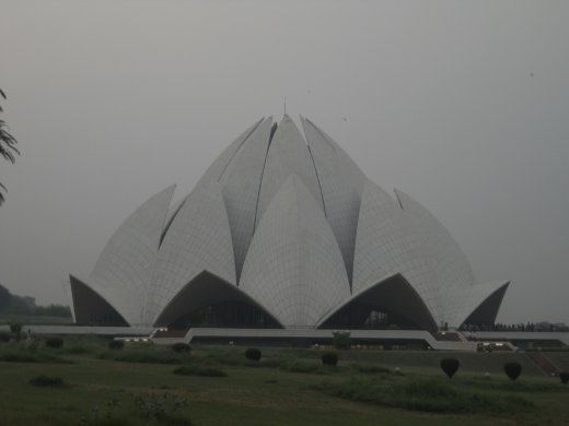 Lotus temple which stymied us