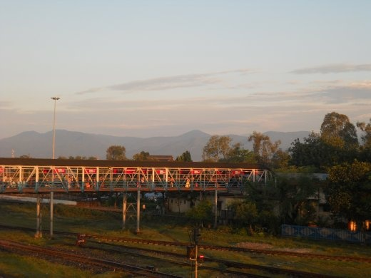 early morning arrival at siliguri