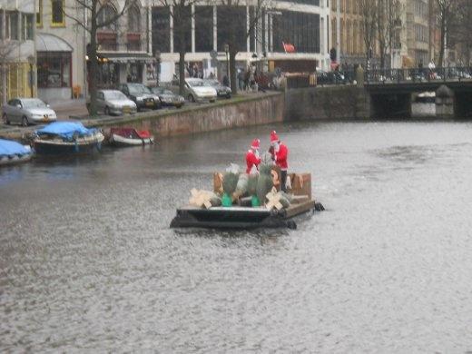 Santas on a raft