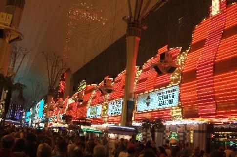 Las Vegas lights on the strip.