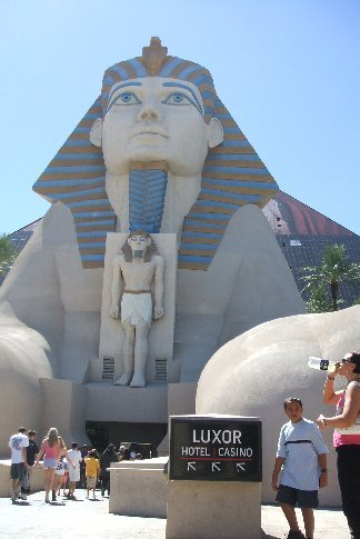 The entrance to the Luxor