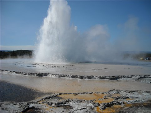 Called Great Fountain this geyser throws out a huge amount of water and erupts every 7 hours for up to 45 minutes!