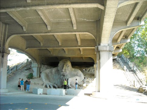 Troll under the bridge (with a VW in his hand)