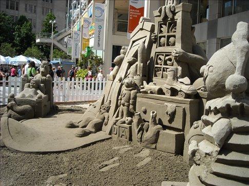 Sand sculpture downtown