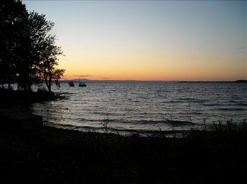 Lake Champlain from the Burlington shore