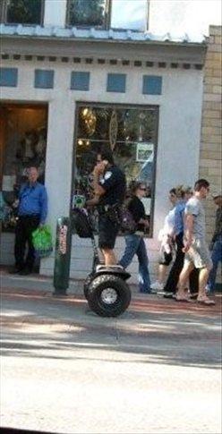 policeman on a segway