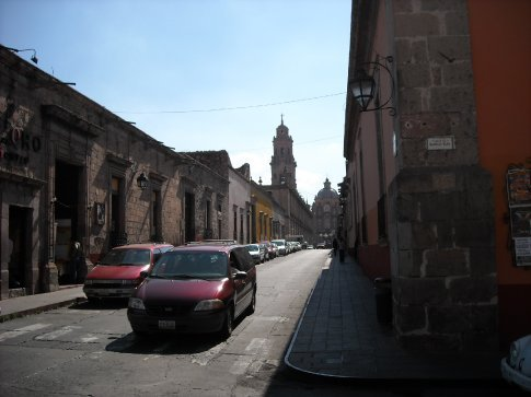 The streets of Morelia, filled with fine old buildings