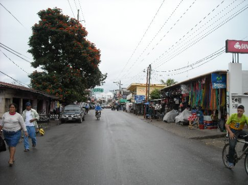 the main street of Rio Dulce