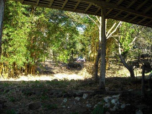 our camping spot at the Finca Magdalena