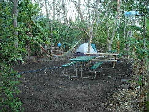 our camping spot at the Hacienda Merida