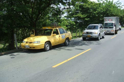 the taxi we got with 2 other men from Aguachica to Bucaramanga