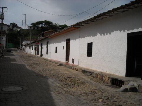 this is the old, this part of Giron is now a national monument, all houses must be white and remain as they were originally built